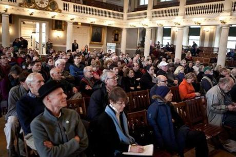 "Those at the ""What If Sandy Happened Here?"" forum contemplated the havoc climate change could cause in the Boston area."